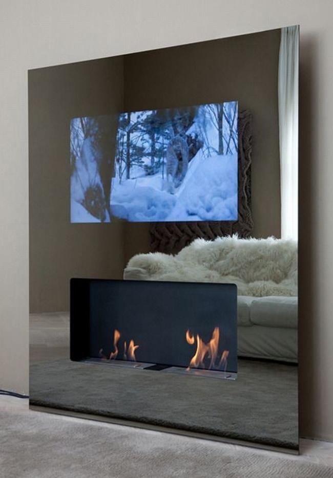 jak ukryć telewizor w salonie ukryty telewizor we wnętrzu w domu inspiracje design pomysły rozwiązania 02