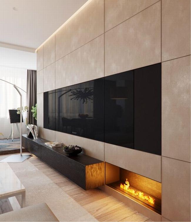 jak ukryć telewizor w salonie ukryty telewizor we wnętrzu w domu inspiracje design pomysły rozwiązania 45