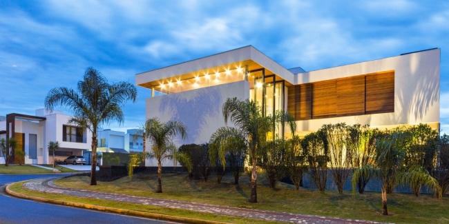 luksusowa nowoczesna rezydencja nowoczesny projekt nowoczesny dom wille marzeń realizacje inspiracje design 09