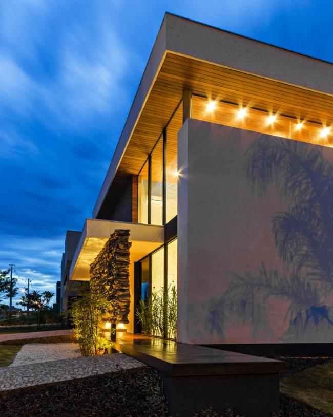 luksusowa nowoczesna rezydencja nowoczesny projekt nowoczesny dom wille marzeń realizacje inspiracje design 11
