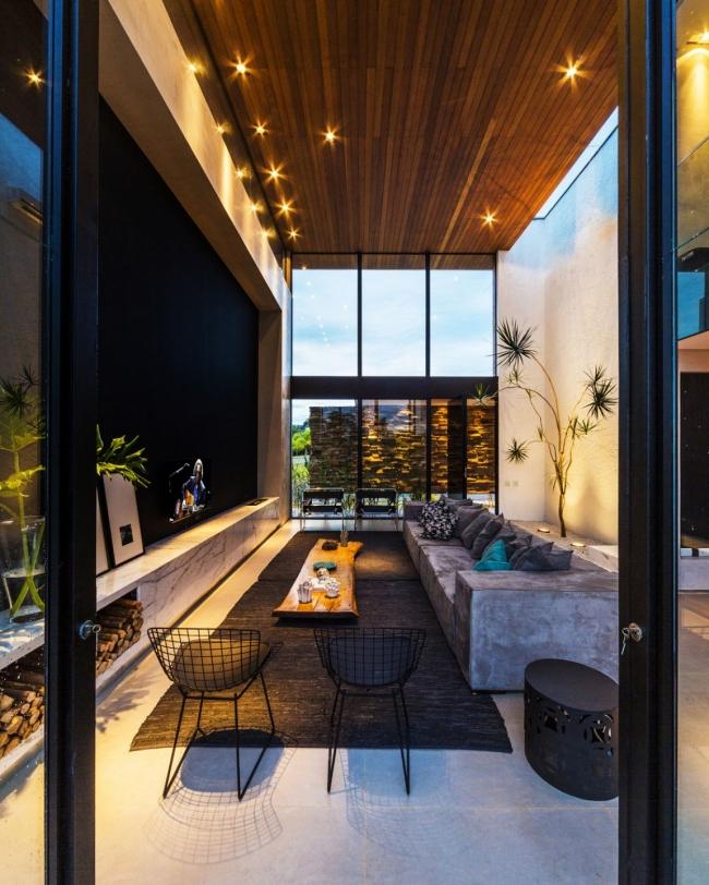 luksusowa nowoczesna rezydencja nowoczesny projekt nowoczesny dom wille marzeń realizacje inspiracje design 14