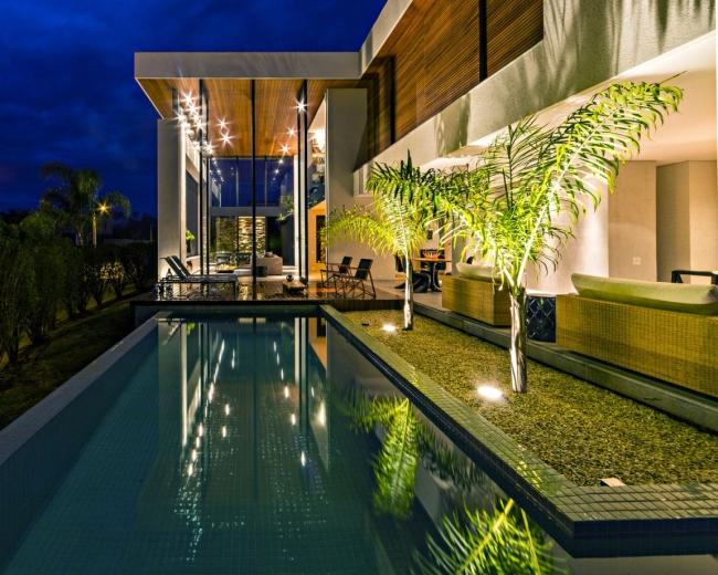 luksusowa nowoczesna rezydencja nowoczesny projekt nowoczesny dom wille marzeń realizacje inspiracje design 39