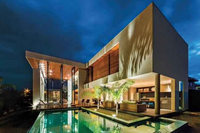 luksusowa nowoczesna rezydencja nowoczesny projekt nowoczesny dom wille marzeń realizacje inspiracje design 43