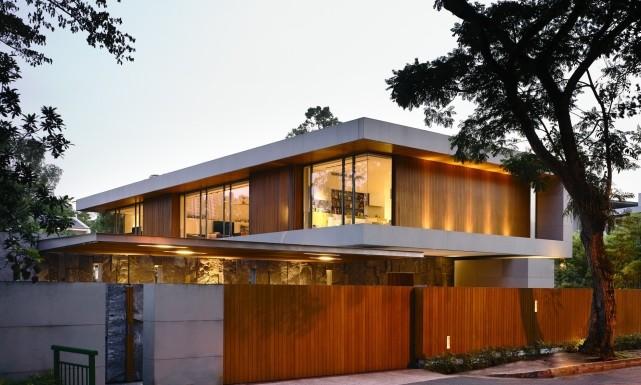 luksusowa nowoczesna willa marzeń projekt realizacja willa ze Szwecji design inspiracje elewacja ze stali rdza 000