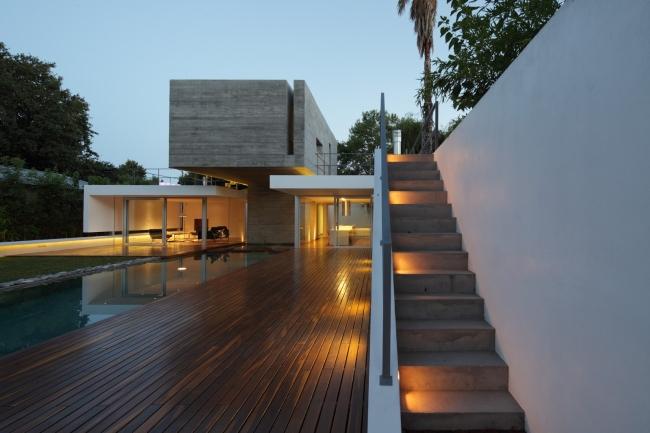 luksusowa nowoczesna willa marzeń projekt realizacja willa ze Szwecji design inspiracje elewacja ze stali rdza 001