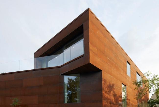 luksusowa nowoczesna willa marzeń projekt realizacja willa ze Szwecji design inspiracje elewacja ze stali rdza 04