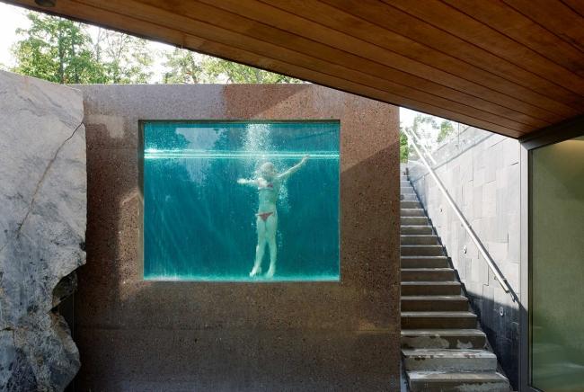 luksusowa nowoczesna willa marzeń projekt realizacja willa ze Szwecji design inspiracje elewacja ze stali rdza 07