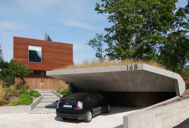 luksusowa nowoczesna willa marzeń projekt realizacja willa ze Szwecji design inspiracje elewacja ze stali rdza 12