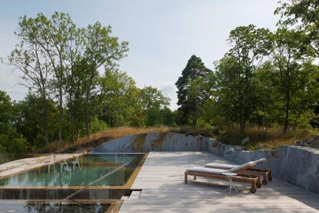 luksusowa nowoczesna willa marzeń projekt realizacja willa ze Szwecji design inspiracje elewacja ze stali rdza 14