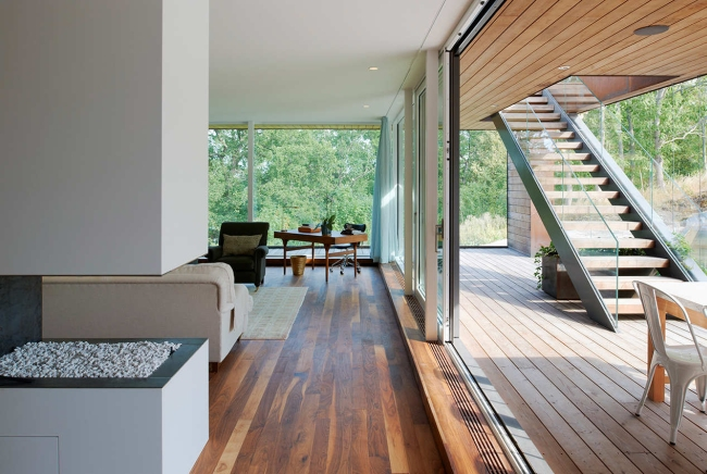 luksusowa nowoczesna willa marzeń projekt realizacja willa ze Szwecji design inspiracje elewacja ze stali rdza 22