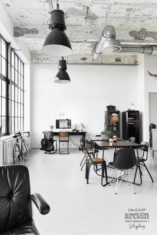 mieszkanie w kamienicy industrialne wnętrze loft wnętrze loftu inspiracje projekt realizacja design 01
