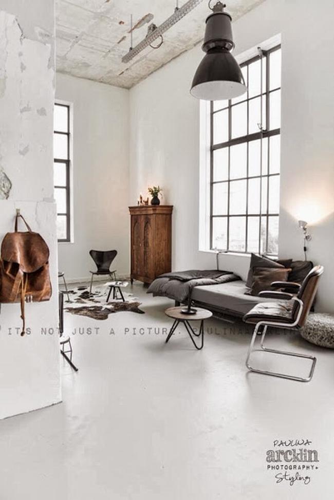 mieszkanie w kamienicy industrialne wnętrze loft wnętrze loftu inspiracje projekt realizacja design 03