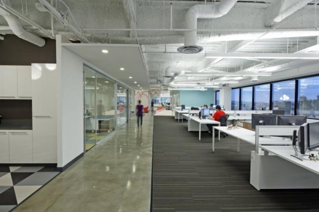 nowoczesna przestrzeń biurowa biura wielkich korporacji nowoczesne biuro inspiracje design nowoczesnego biura 11
