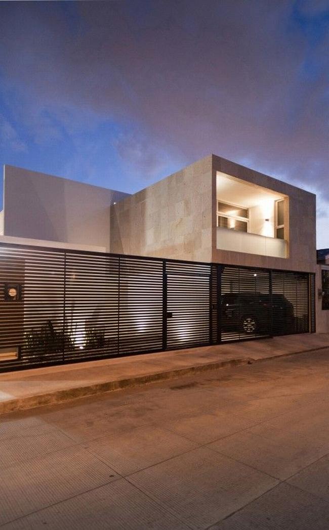 nowoczesne ogrodzenie domu inspiracje realizacje design nowoczesnego ogrodzenia modern fence inspirations 21