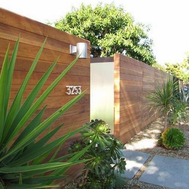 Modern fence design joy studio design gallery best design for Modern front fence ideas
