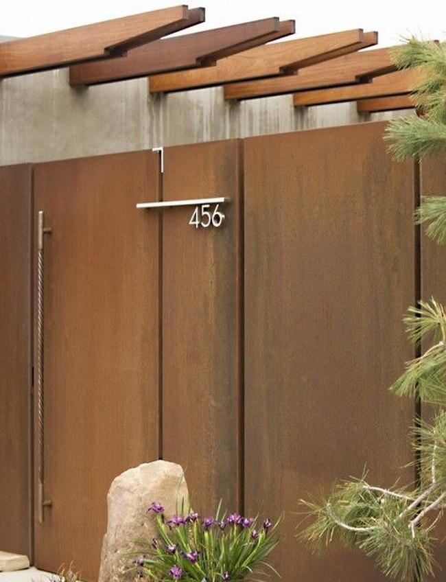 nowoczesne ogrodzenie domu inspiracje realizacje design nowoczesnego ogrodzenia modern fence inspirations 33
