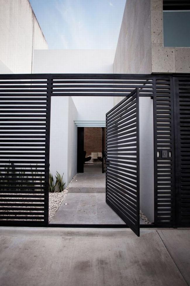 nowoczesne ogrodzenie domu inspiracje realizacje design nowoczesnego ogrodzenia modern fence inspirations 38