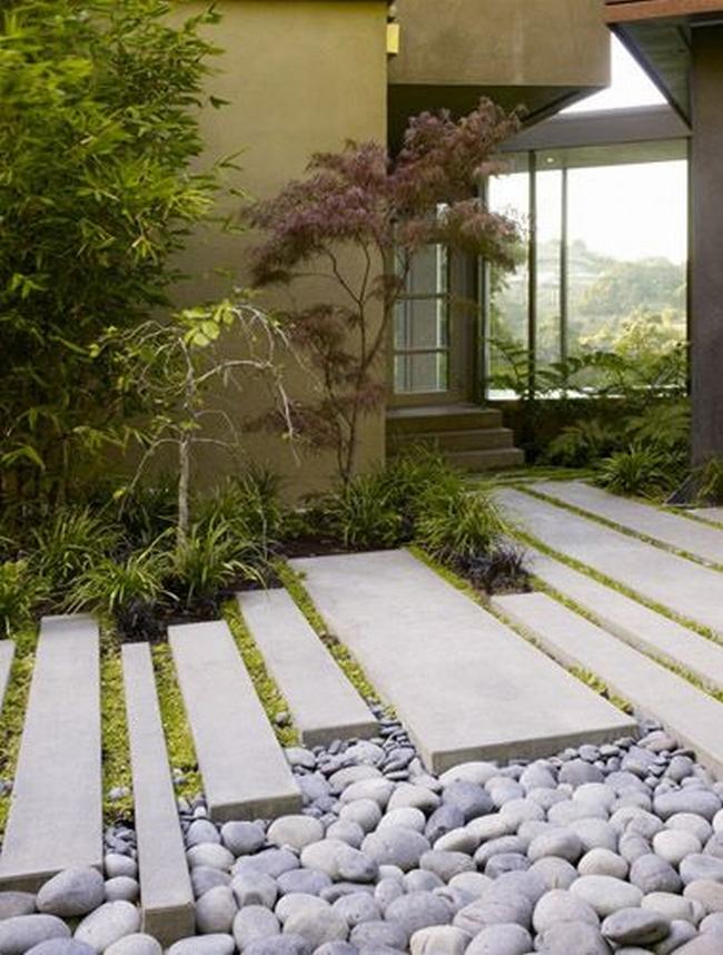 piękny ogródek zieleń przed wejściem do domu inspiracje pomysły na piękny ogródek zieleń 14