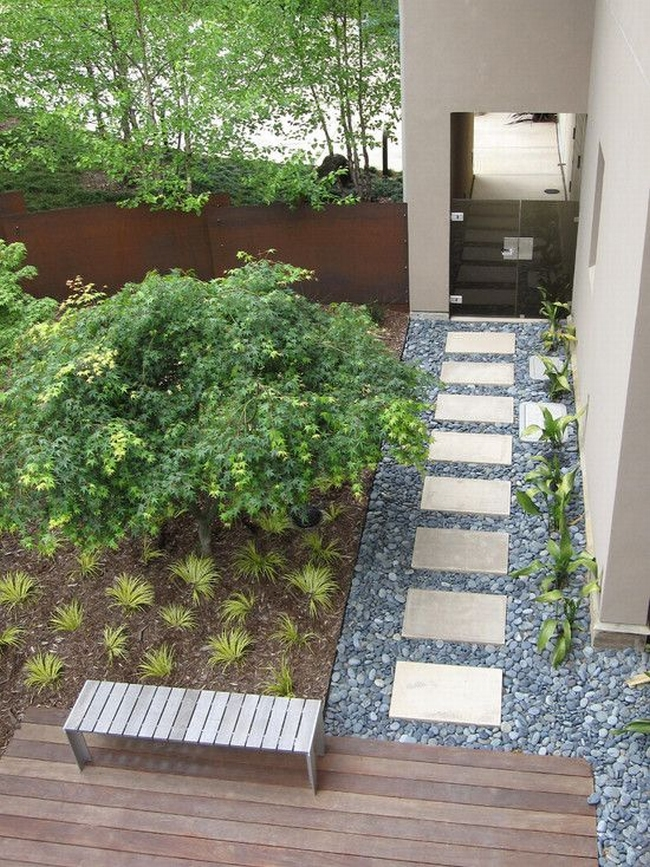 Jak urz dzi ziele przed domem zobacz i zainspiruj si - Slab pathway design ideas ...