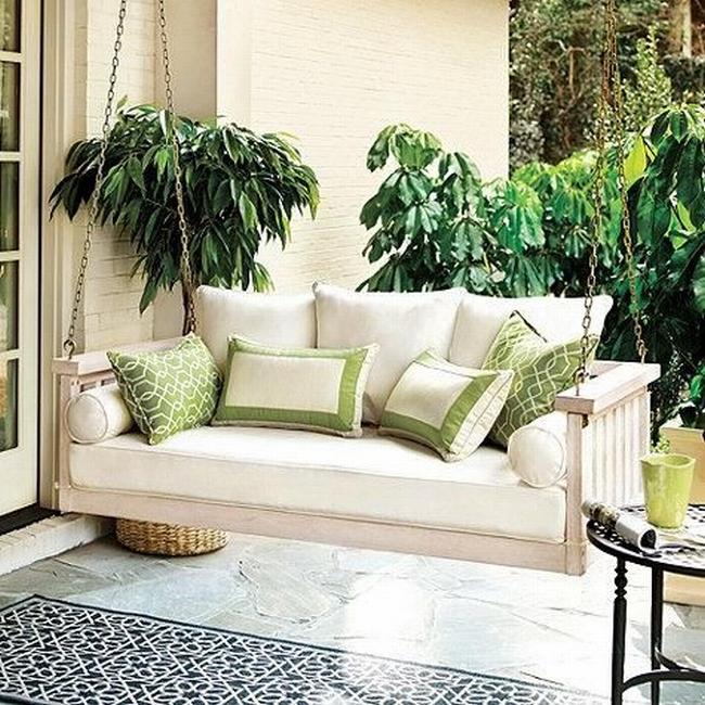 huśtawka na taras werandę inspiracje realizacje pomysły jak zrobić huśtawkę na tarasie design porch swings inspirations 23