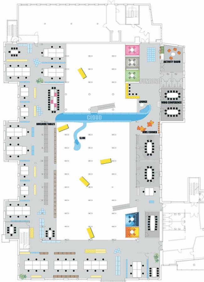 nowoczesna aranżacja biura nowoczesne przestrzenie biurowe design inspiracje projekt biura wnętrze biurowe LEGO 37