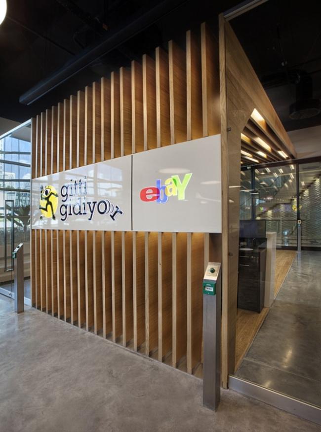 nowoczesne wnętrze biurowe nowoczesne biuro design inspiracje projekty biura wielkich korporacji eBay 01