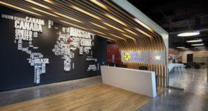 nowoczesne wnętrze biurowe nowoczesne biuro design inspiracje projekty biura wielkich korporacji eBay 10