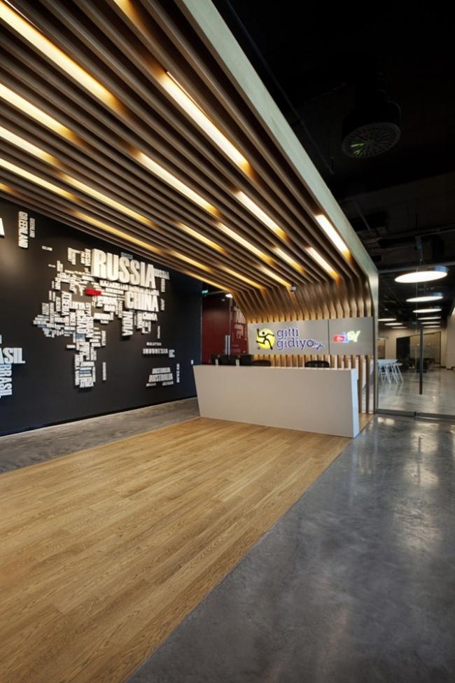 nowoczesne wnętrze biurowe nowoczesne biuro design inspiracje projekty biura wielkich korporacji eBay 11
