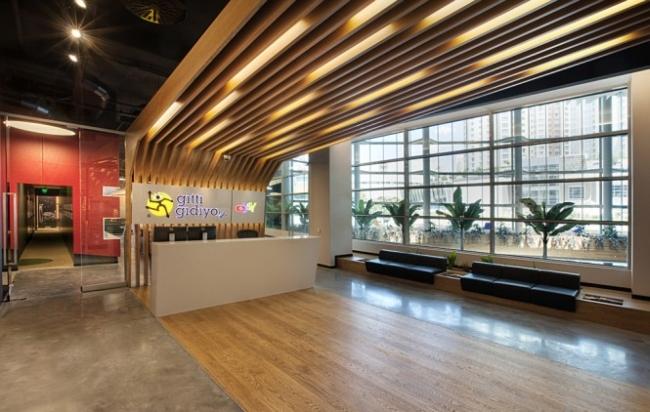 nowoczesne wnętrze biurowe nowoczesne biuro design inspiracje projekty biura wielkich korporacji eBay 12