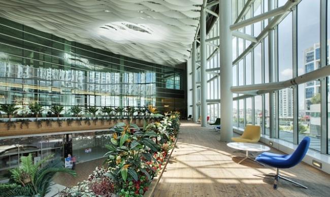 nowoczesne wnętrze biurowe nowoczesne biuro design inspiracje projekty biura wielkich korporacji eBay 13