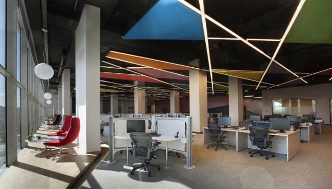 nowoczesne wnętrze biurowe nowoczesne biuro design inspiracje projekty biura wielkich korporacji eBay 18