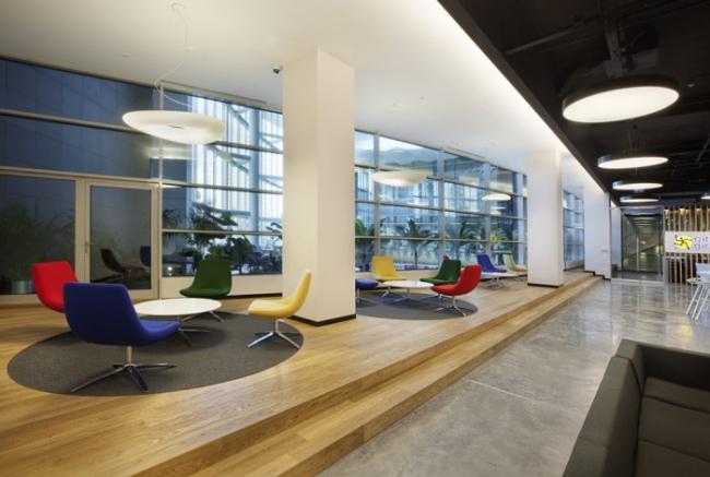 nowoczesne wnętrze biurowe nowoczesne biuro design inspiracje projekty biura wielkich korporacji eBay 19