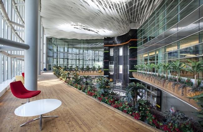 nowoczesne wnętrze biurowe nowoczesne biuro design inspiracje projekty biura wielkich korporacji eBay 20