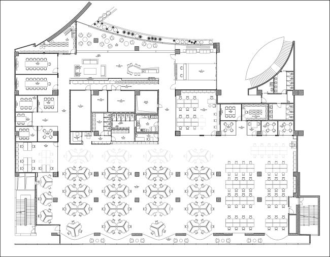 nowoczesne wnętrze biurowe nowoczesne biuro design inspiracje projekty biura wielkich korporacji eBay 203