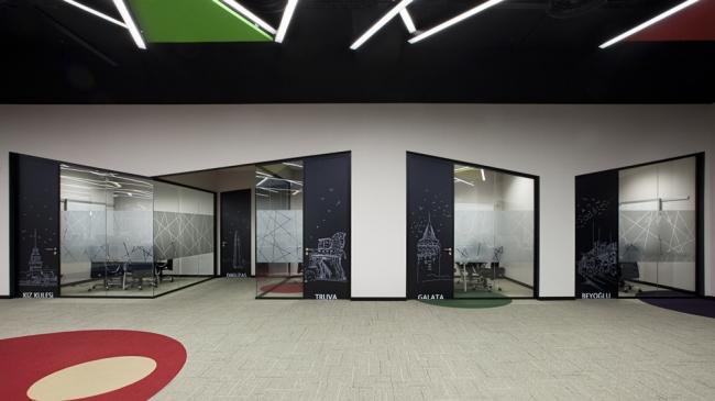 nowoczesne wnętrze biurowe nowoczesne biuro design inspiracje projekty biura wielkich korporacji eBay 26