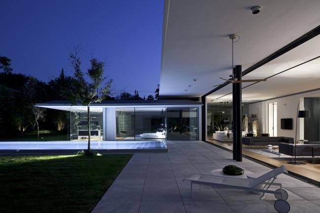 nowoczesny dom parterowy design inspiracje realizacje projekt nowoczesna architektura willa marzeń luksusowa rezydencja 37