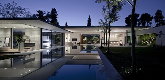 nowoczesny dom parterowy design inspiracje realizacje projekt nowoczesna architektura willa marzeń luksusowa rezydencja 38