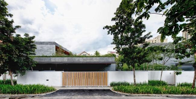 nowoczesny dom w zieleni inspiracje design architektura projekt pomysły wille marzeń luksusowa rezydencja 09