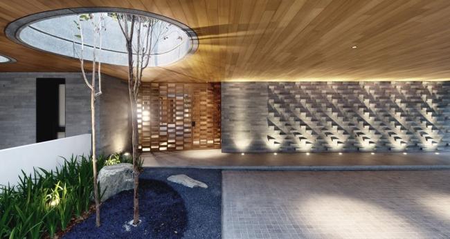 nowoczesny dom w zieleni inspiracje design architektura projekt pomysły wille marzeń luksusowa rezydencja 12