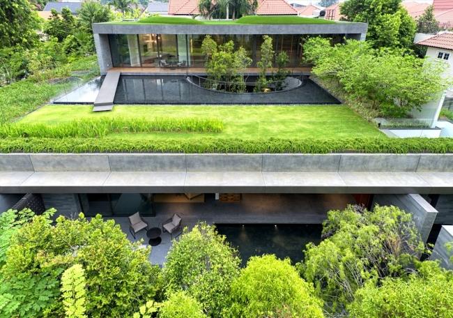 nowoczesny dom w zieleni inspiracje design architektura projekt pomysły wille marzeń luksusowa rezydencja 33