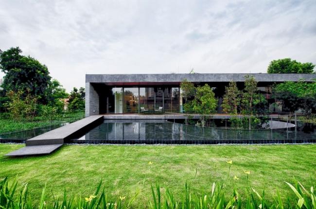 nowoczesny dom w zieleni inspiracje design architektura projekt pomysły wille marzeń luksusowa rezydencja 35