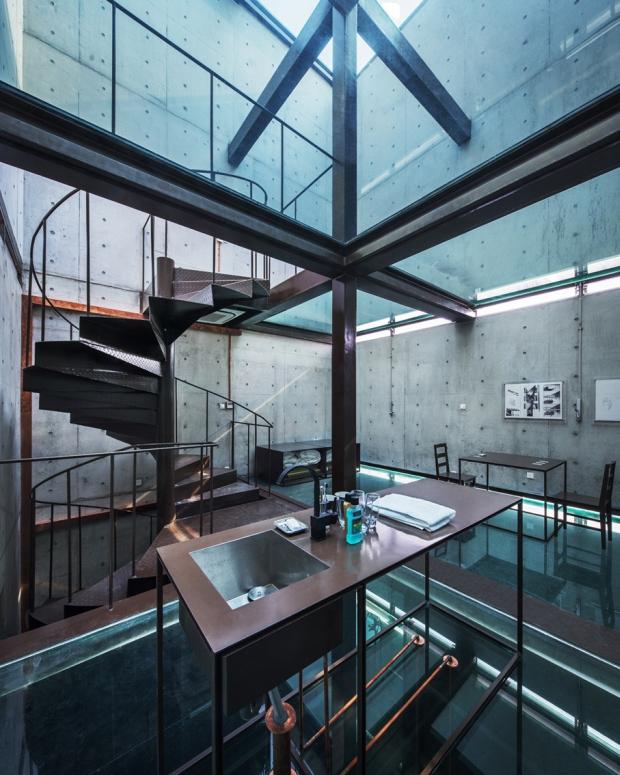 szklany dom ze szkła design szklane wnętrze projekt pomysł desing idea inspiracje inspiration expo szanghaj 08