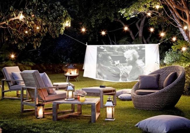 zewnętrzne domowe kino letnie w ogrodzie kino z tyłu domu kino koło domu inspiracje pomysły oudoor cinema outdoor movie theatre 101