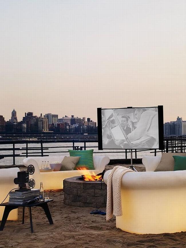 zewnętrzne domowe kino letnie w ogrodzie kino z tyłu domu kino koło domu inspiracje pomysły oudoor cinema outdoor movie theatre 16