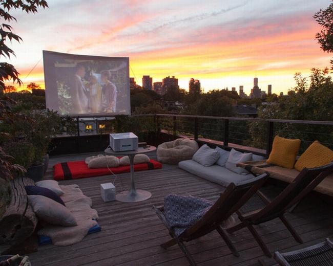 zewnętrzne domowe kino letnie w ogrodzie kino z tyłu domu kino koło domu inspiracje pomysły oudoor cinema outdoor movie theatre 20