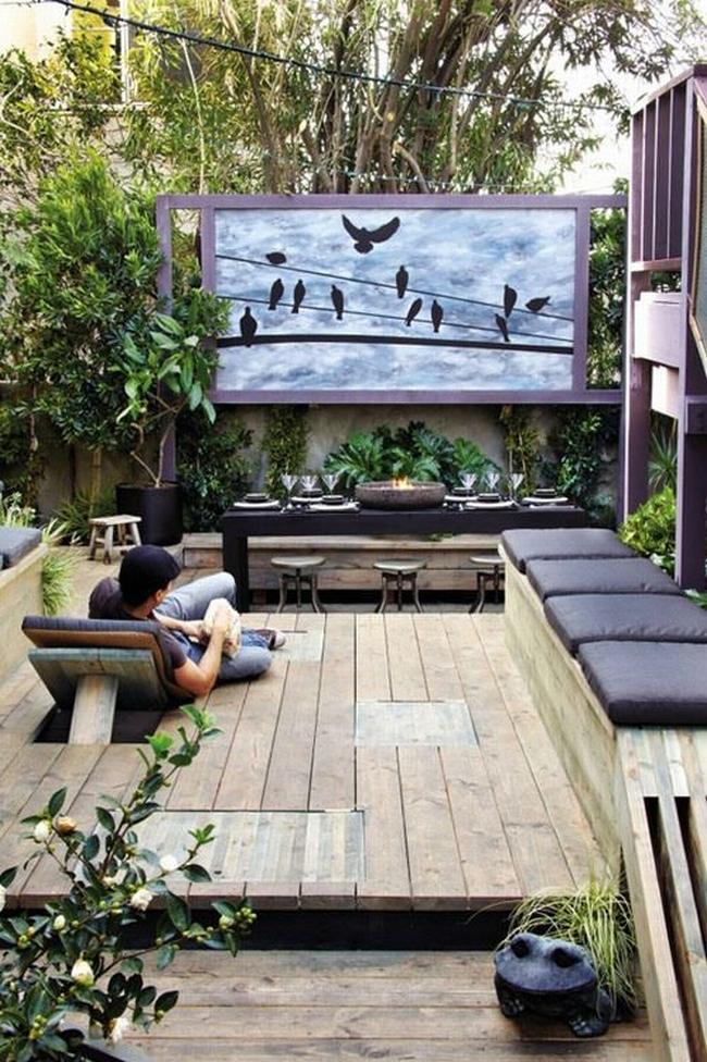 zewnętrzne domowe kino letnie w ogrodzie kino z tyłu domu kino koło domu inspiracje pomysły oudoor cinema outdoor movie theatre 23