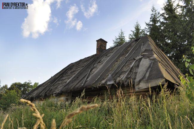 Chyża Chata łemkowska chyża podkarpackie zabytkowa architektura drewniana romantyczny dom dawno temu w domu blog o architekturze pani dyrektor 2