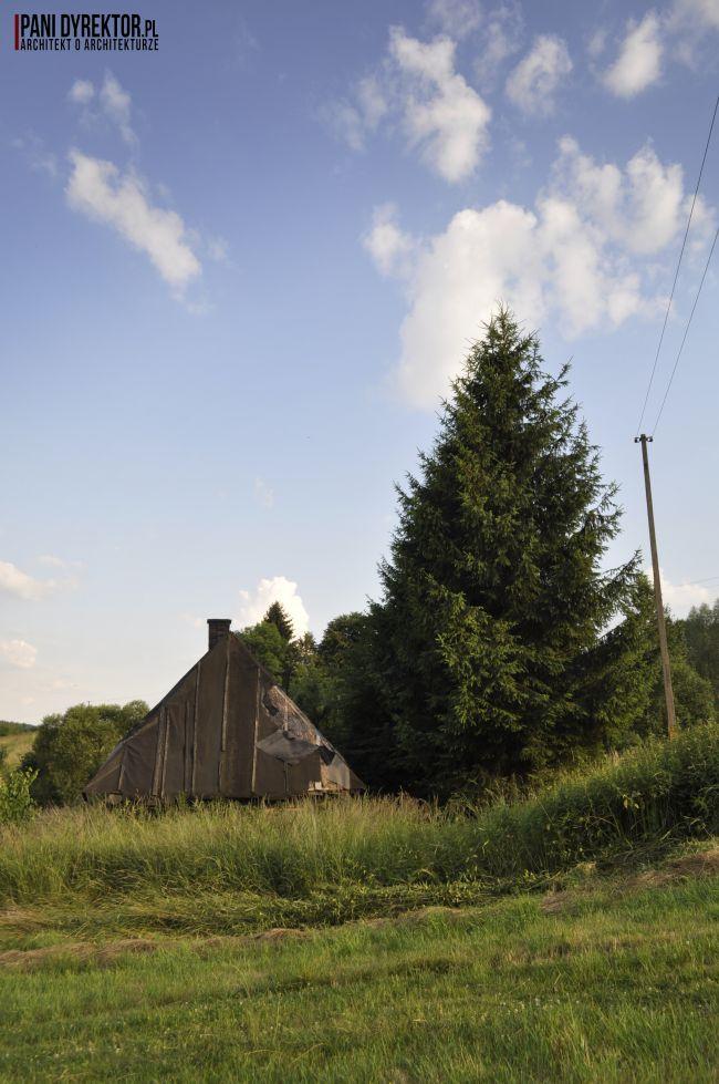 Chyża Chata łemkowska chyża podkarpackie zabytkowa architektura drewniana romantyczny dom dawno temu w domu blog o architekturze pani dyrektor 4
