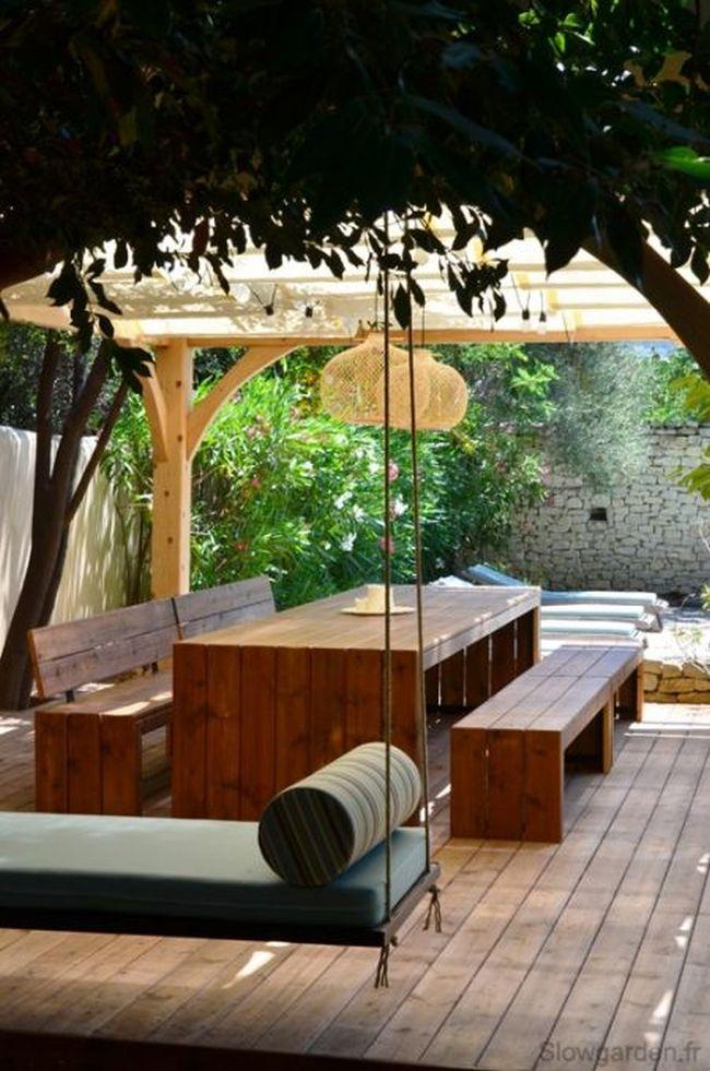 huśtawka w ogrodzie huśtawka ogrodowa inspiracje design pomysły aranżacja ogrodu jaką huśtakwę wybrać do ogrodu 02