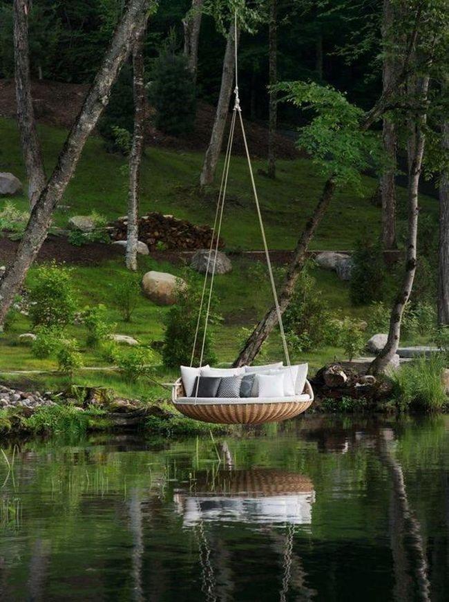huśtawka w ogrodzie huśtawka ogrodowa inspiracje design pomysły aranżacja ogrodu jaką huśtakwę wybrać do ogrodu 04